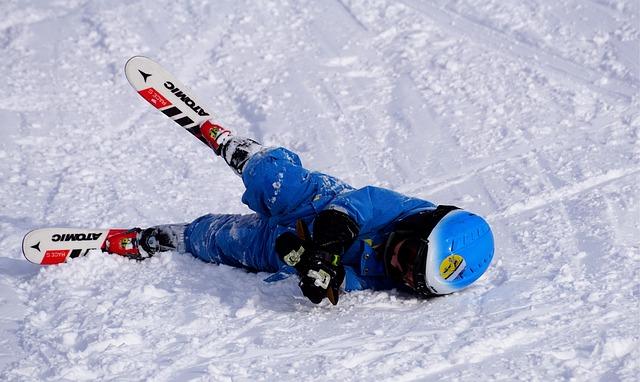 pád lyžaře