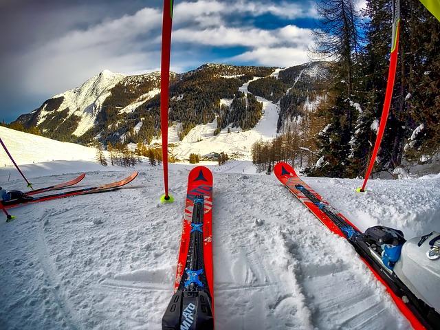 výhled na lyžích