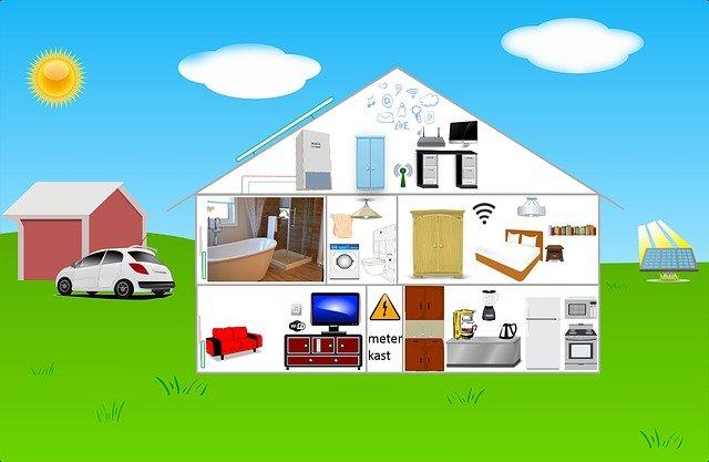 dům a garáž
