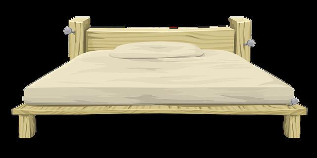 polštář na posteli