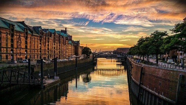 kanál v Hamburku